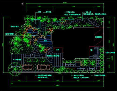 别墅庭院设计平面图cad莱茵前景天津别墅图片