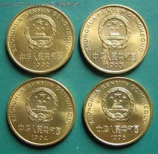 1991年-2001年梅花5角面值硬币回收