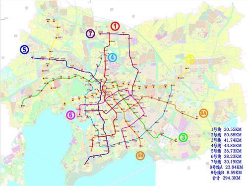 无锡地铁规划做重大调整 由五条线扩充为八条