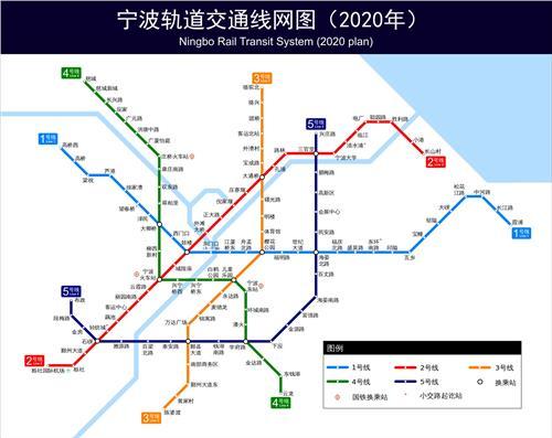 宁波地铁2020最新规划图!还经不经过你家?