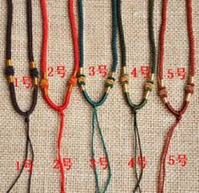编玉绳的步骤及图解:玉绳怎么编:本命年红绳挂绳玉绳项链