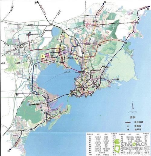 【青岛地铁规划图】2017青岛最新的地铁规划(图)