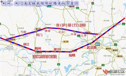 沿江高铁湖北段 湖北高铁经过荆门 荆门和荆州争夺高铁
