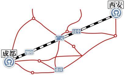 西成高铁线路图 最新消息:通车试运营时间确定(图)