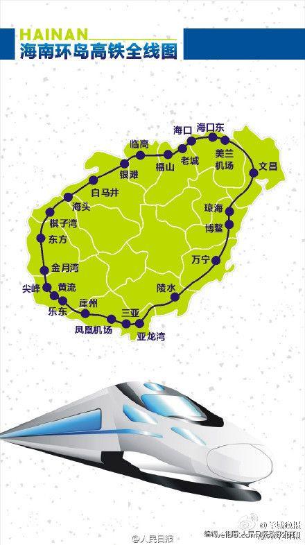 海南环岛高铁什么时候开通?站点时刻表及经过的旅游景点(图解)