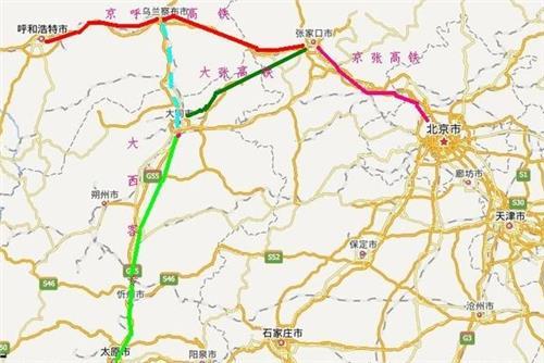 京张高铁最新规划图 站点及最新进展消息