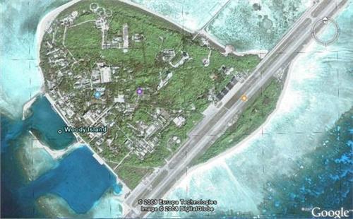 南海五岛礁填海造机场 南海填海造岛礁分布图卫星图及最新进展