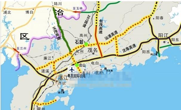 【汕湛高速茂名段线路图】汕湛高速茂名段电白段最新消息