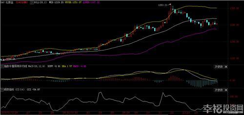 51020日均线粘合 黄金日图上目前MA5均线向上翘头与MA10均线粘合