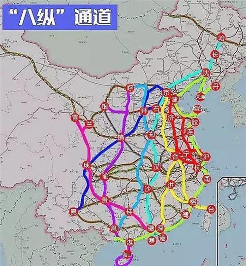 最新铁路规划图解读:八纵八横高铁
