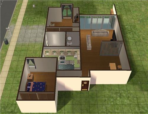 农村间两间房子设计图展示