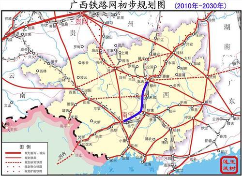 广西玉林高铁规划图 广西高铁蓝图 到2020年实现市市通高铁