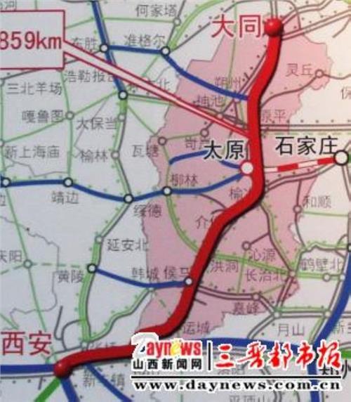 大同高铁路线图 大西高铁简介线路图 大同至西安铁路客运专线站点有哪些