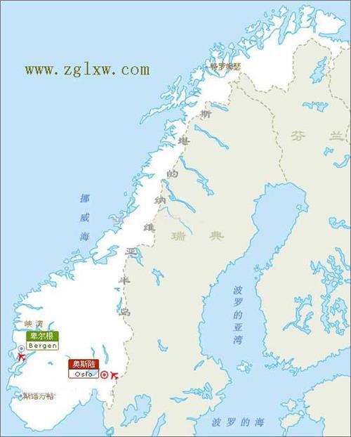 北欧五国地图 北欧国家地图 北欧旅游地图查询