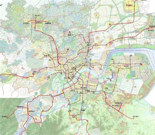宁波地铁6号线规划图 杭州地铁7号线规划图