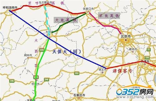 大张高铁开工 大张、呼张高铁都已开工 京张高铁依然在纸上