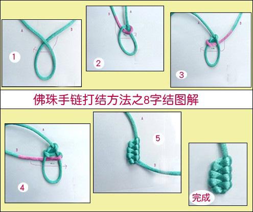 佛珠佛头打结图解 佛珠佛头编绳打结图解 佛珠手链结开了