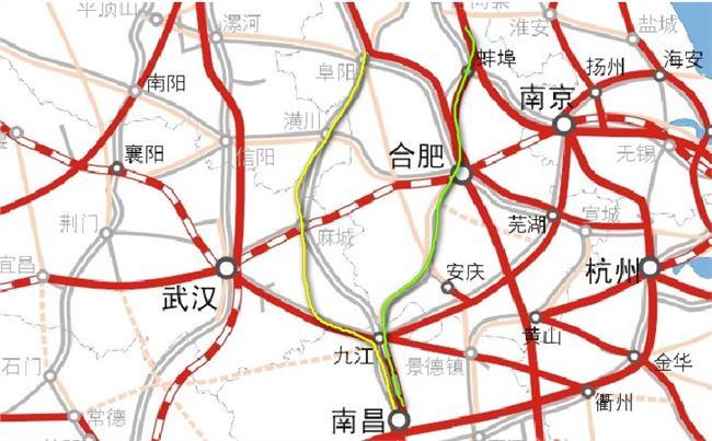 合九高铁最新线路图 合安九高铁最新线路图