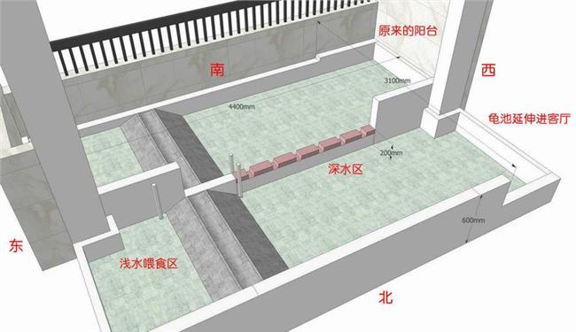 石金钱龟池设计图南实景池设计图阳台石龟衣服设计软件图片