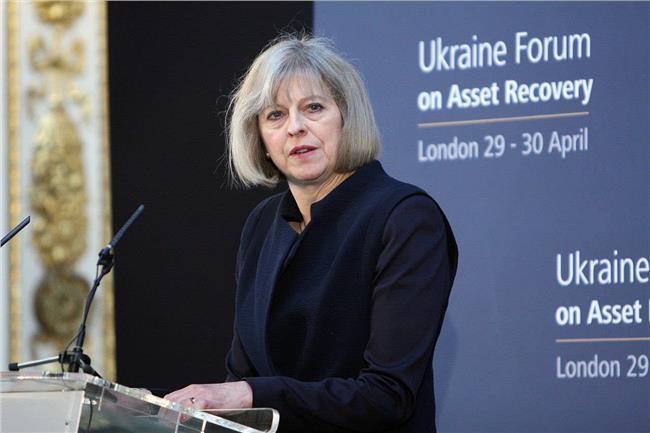 英国首相特蕾莎·梅 特蕾莎·梅在首轮选举中领先 有望成英国第二位女首相