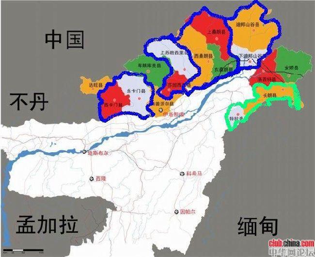 中国与印度的领土面积