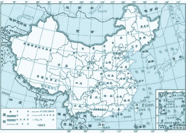 中国边界争议地图 被印度占中国领土地图 中国与印度有争议地区