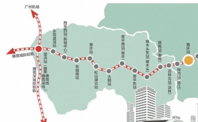 东莞惠州轻轨线路图 莞惠城轨线路图完整版 东莞道滘至惠州客运北站全程99 8公里