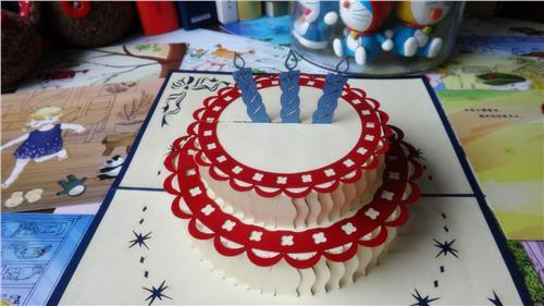怎么做立体生日贺卡_卡纸手工制作立体蛋糕 生日贺卡怎么做_飞扬123