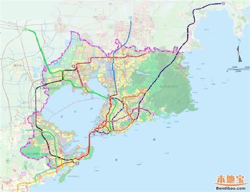 青岛市黄岛区_【青岛地铁规划图】2017青岛最新的地铁规划(图)_飞扬123